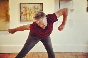 Mark DeGarmo in his early phases of choreographic development exploring new movements and choreography.